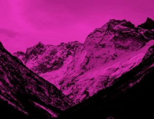 Mountain-with-Snow-Pink
